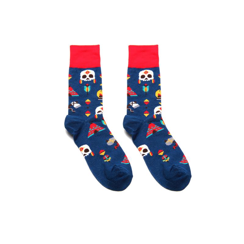 Engraçado Colorido Japonês Interessante Originalidade Mulheres Homens Meias Skate Harajuku Algodão Calcetines Hombre Hedgehog = 1 pares