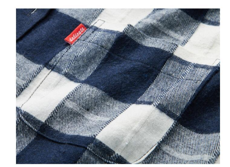 Men's Flannel Plaid Shirts Dress 2019 Male Casual Warm Soft Comfort Long Sleeve Shirt Clothes Camisa Masculina Plus Size 4xl Yuj