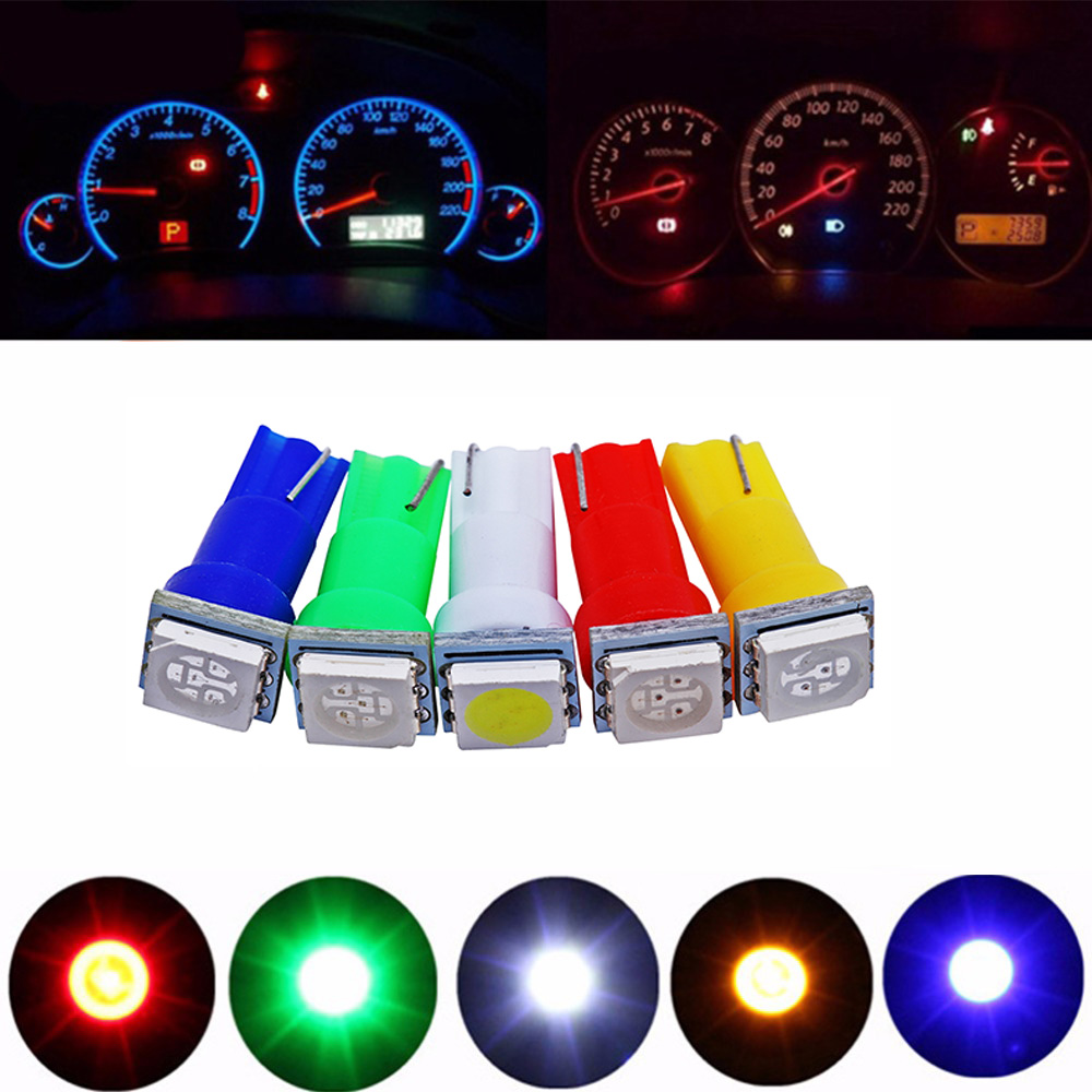 20Pack 8mm 12V//24V Red LED Panel Metal Indicator Light Dash Red Green