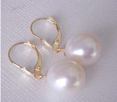 10 mm Femmes Naturel Noir South Sea Shell Pearl 925 Argent Boucles D/'oreilles Clou