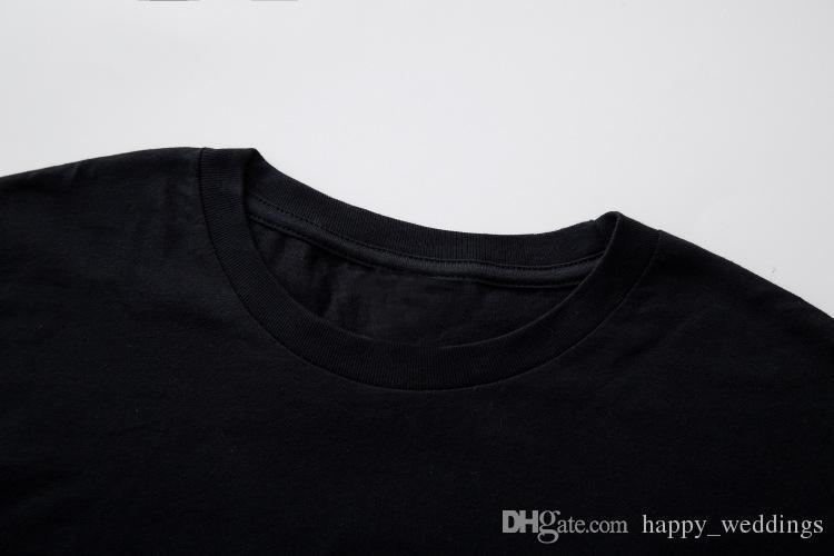 18ss impresionante nuevo hombre primavera verano personalidad carta hombres camiseta algodón simple S M L Xl Xxl en stock