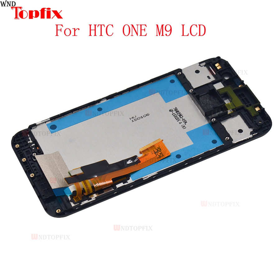 5.0inch 100% Tested For HTC One M9 LCD Display Touch Screen Digitizer Assembly With Frame Replacement Parts For HTC M9 One Hima (2)