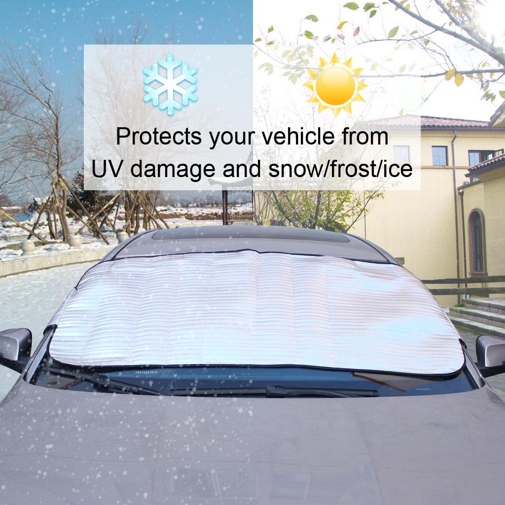 Auto SUV Front Windschutzscheibe Sonne Schnee Eis Frostschutz Abdeckung Schwarz