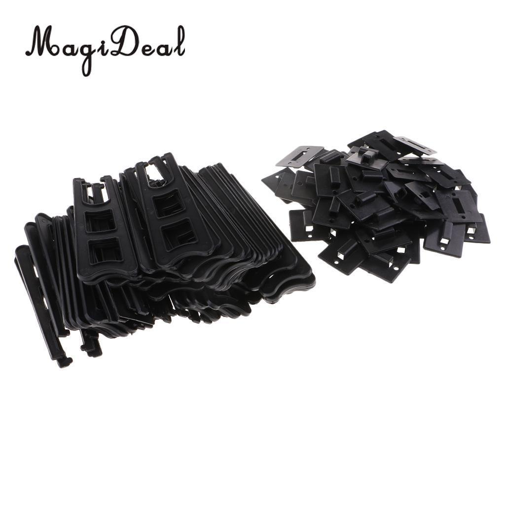MagiDeal 50Pcs Plastic Easels or Photo Frame Stand/Holders to Display Pictures or Other Items at Weddings, Home Decor, Tables