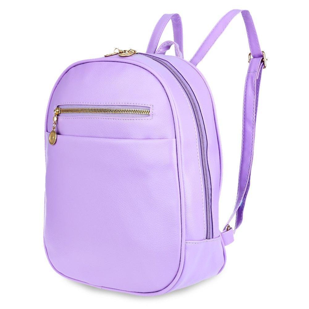 Guapabien 7 Candy Color Women Back Pack Bag Japan Korea Teenage Student School Travel Bagpack Girls PU Leather Small Backpack