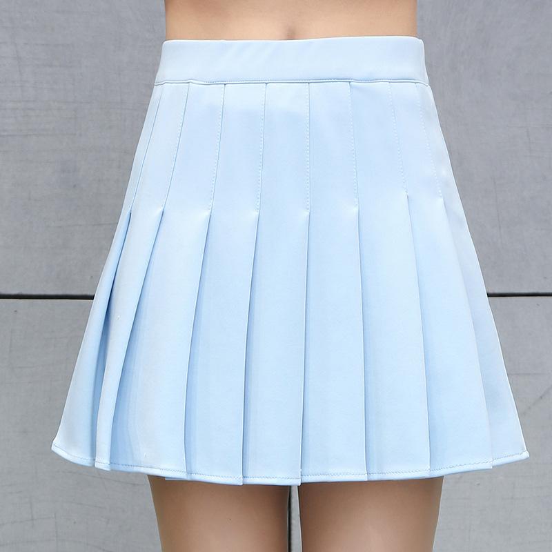Printemps Et Eté Femmes Coréennes Taille Haute Mini Jupe Plissée Filles Tennis Jupe École Jupe Courte Falda Cuero Cosplay SH190824