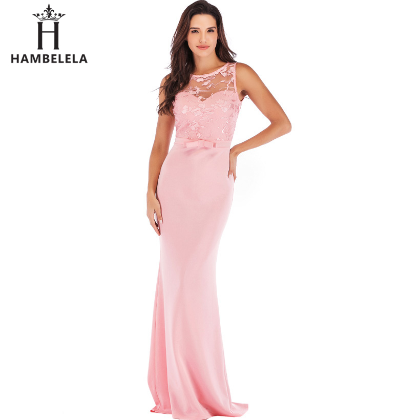 HAMBELELA Long Maxi Backless 2019 Women Dress Summer Evening Party Dresses Sexy O-Neck Elegant Floral Lace Dress Vestidos Longo (15)