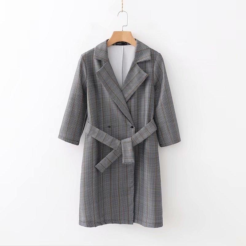 XD58-1492 usine de robe de grille épaississement ceinture SH190902 Europe et Amérique de la mode