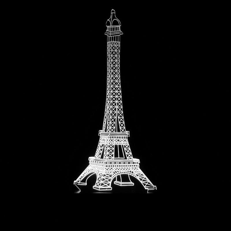 Torre Eiffel colorida Torre Eiffel Torre Eiffel Led Control remoto táctil Interruptor táctil Cambio gradual Visión Pequeña luz nocturna