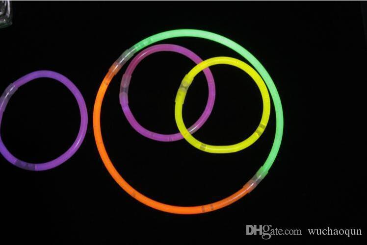 Hot LED Glow Stick Bracelet Necklaces Neon Party Flashing Light Stick Wand Novelty Toy LED Vocal Concert Sticks LED Cheer Props