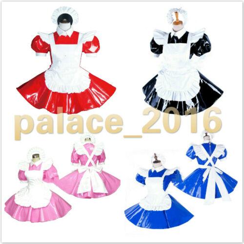 Sissy Maid PVC dress jumpsuit locks cosplay female CD TV Tailor-Made