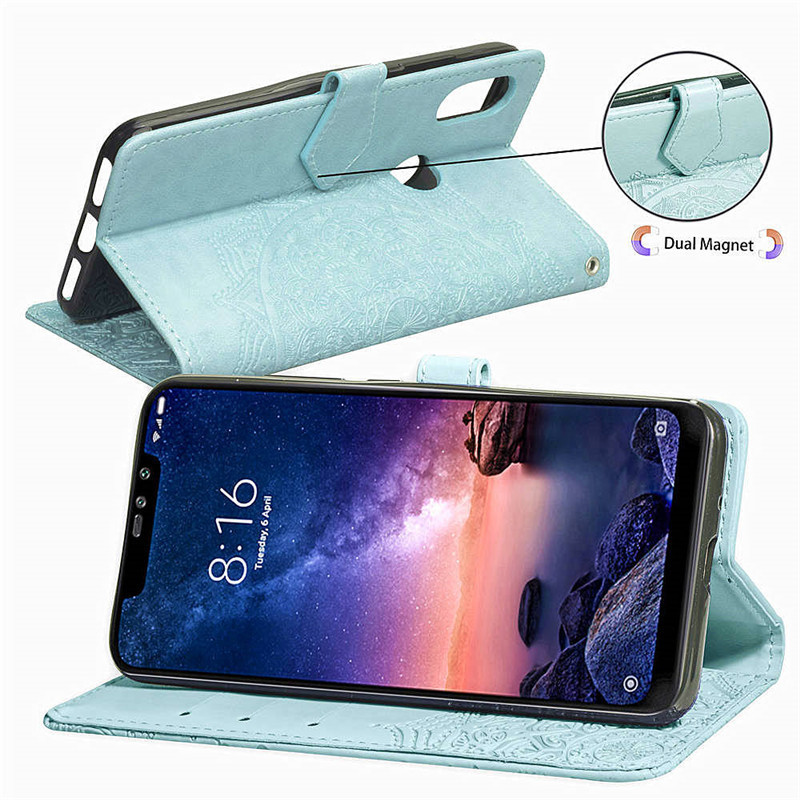 Note 6 Pro Case Cover Redmi Note 6 Global Version Leather Wallet Flip Case For Redmi Note 6 Pro Phone Cases