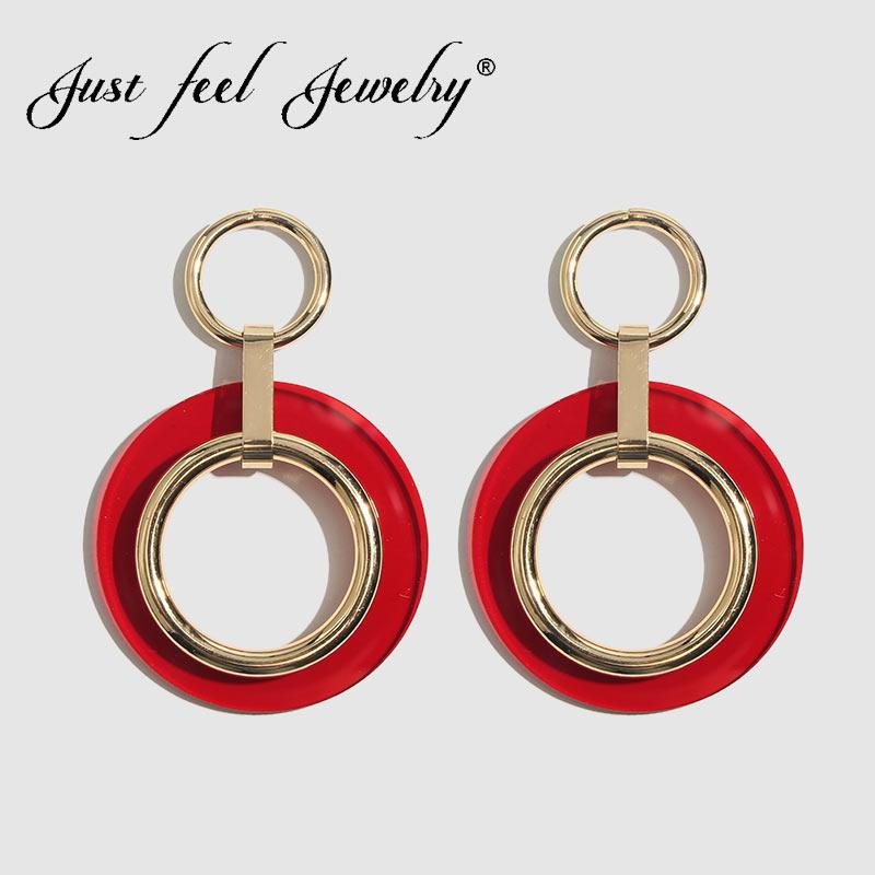 TRENDY géométrique acrylique en forme de U Pendentif Boucle D/'oreille Cerceau Drop Ear Stud bijou cadeau