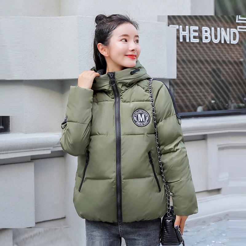 Fashion Women Jacket Short Cotton Hooded Winter Parka Coats Female Elegant Jacket Coat Padded Parkas Women Warm Outwear Lj0845
