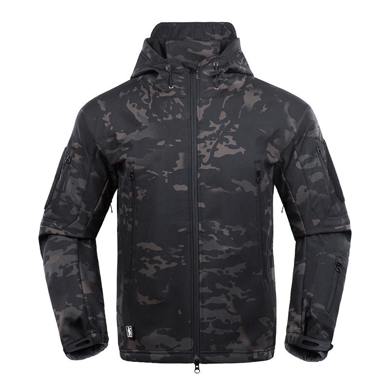 Men Military Us Army Tactical Sharkskin Softshell Jacket New 2017 Brand Autumn Winter Outerwear Camouflage Fleece Jacket Coat T2190617