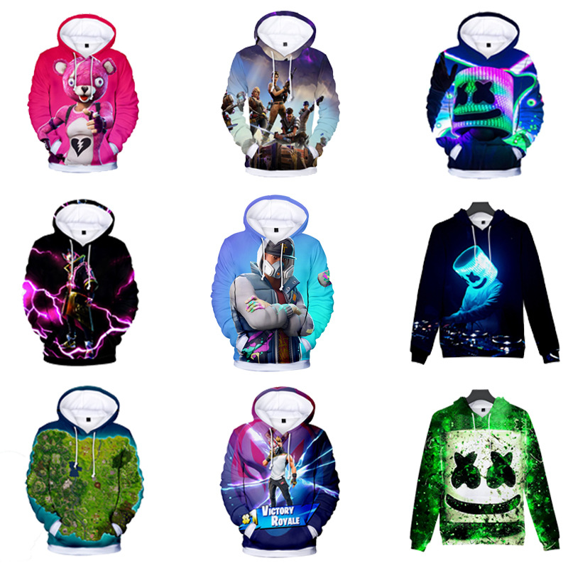 Marshmello DJ Boys Girls Kids Printing Sweatshirt Hoodies Spring Fall Pullover