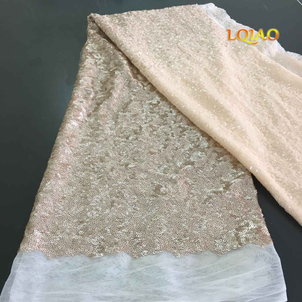 ivory champagne sequin fabric-01