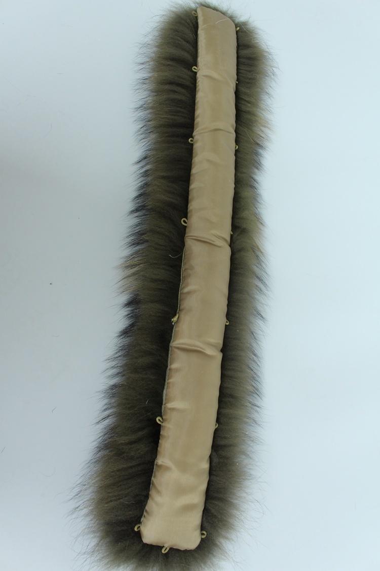 natural real raccoon fur hoody trim collar (16)