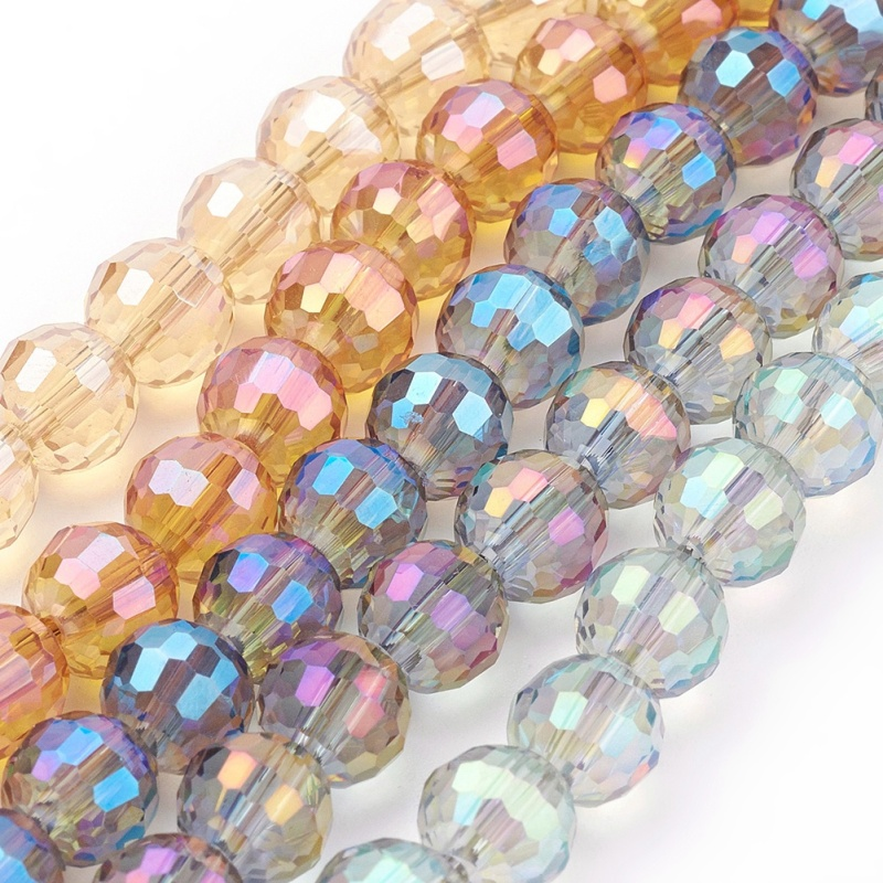 8mm Jelly Style Glass Beads Strands Jewellery Making 10 Colours 100pcs//strand