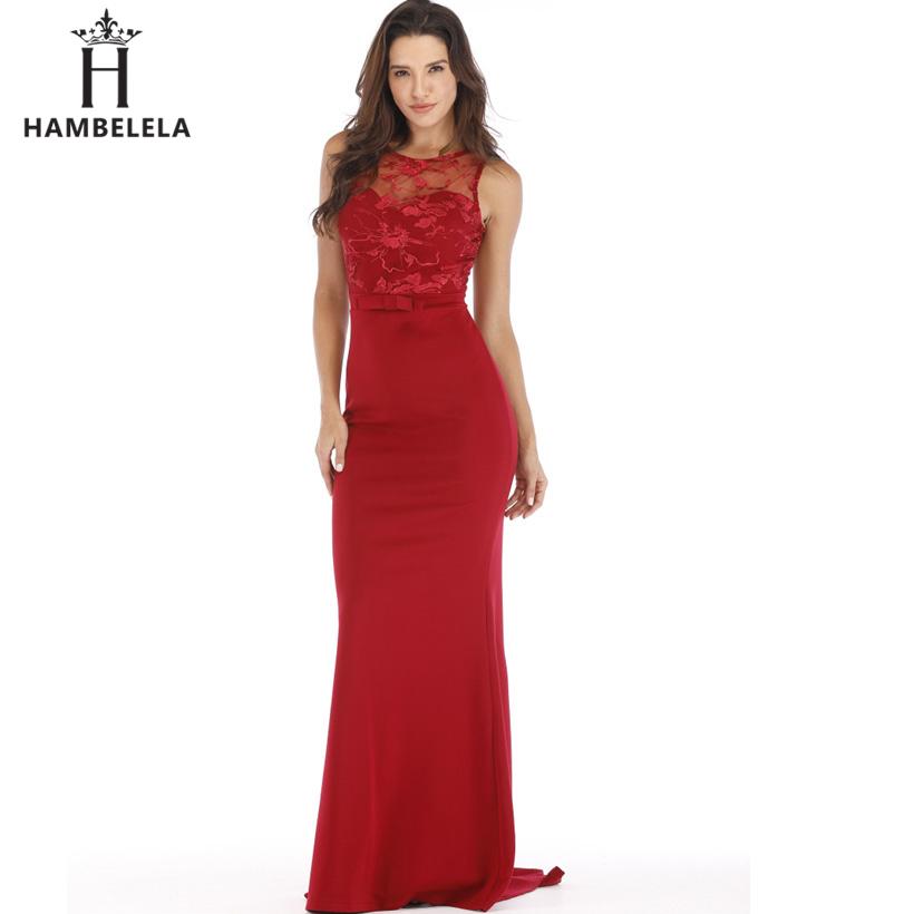 HAMBELELA Long Maxi Backless 2019 Women Dress Summer Evening Party Dresses Sexy O-Neck Elegant Floral Lace Dress Vestidos Longo (10)