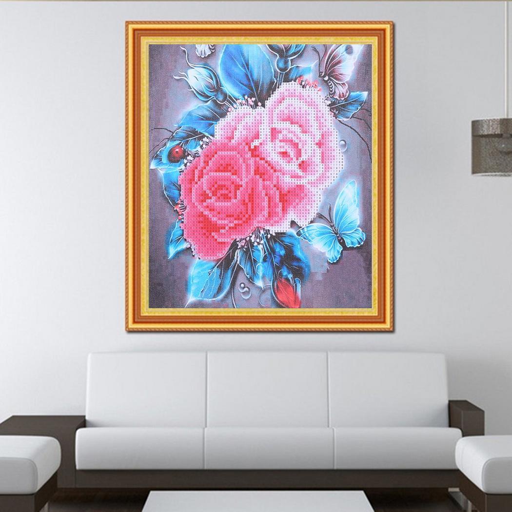 Новая мода цветок DIY 5D Вышивка крестом Вышивка Алмазные Живопись Home Decor Craft Подарки Новый пост-сверлильные