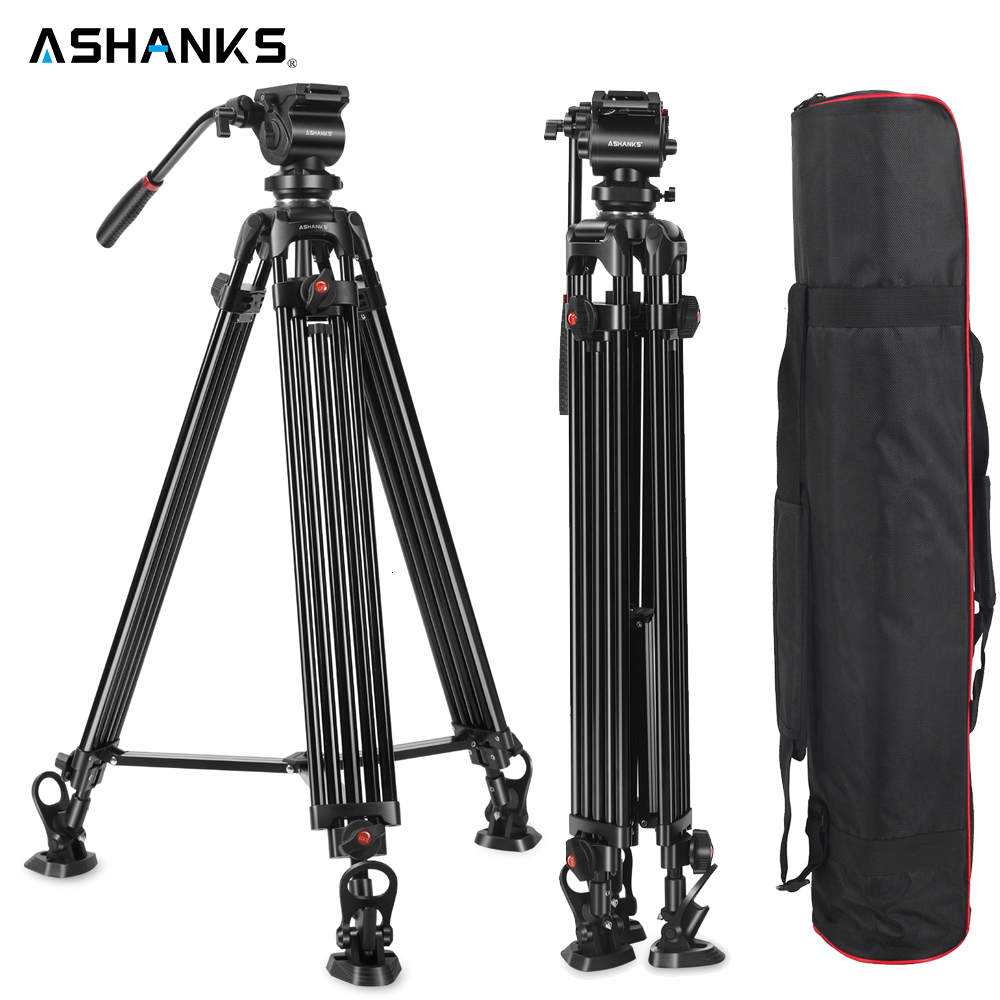 Camera Accessories Professional Heavy Duty Video Camcorder Aluminum Alloy Tripod for DSLR//SLR Camera 62-140cm Adjustable Height