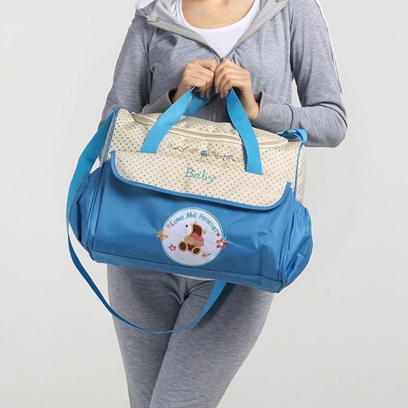 CROAL CHERIE 381830cm5pcs Baby Diaper Bag Sets changing Nappy Bag For Mom Multifunction Stroller Tote Bag Organizer (15)