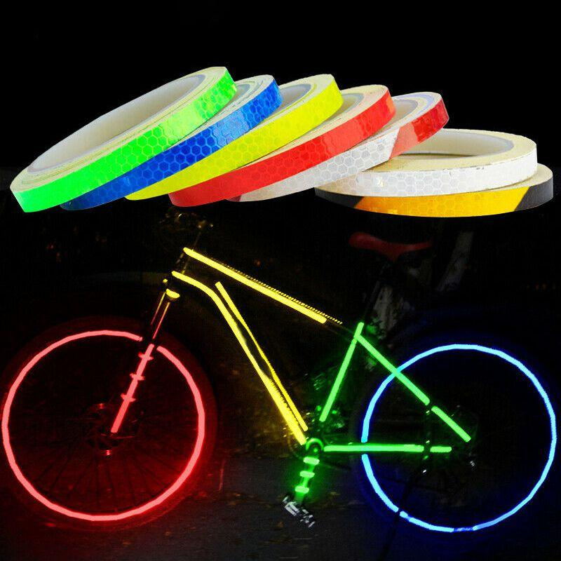 MagiDeal Pair Car Safety Bike Light Reflective Strip Reflector Self Adhesive