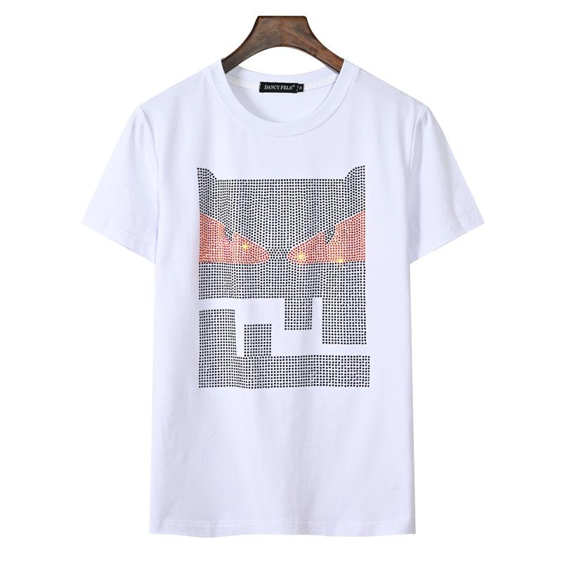 Loose T Shirt,Summer Season Sky and Trees Fashion Personality Customization