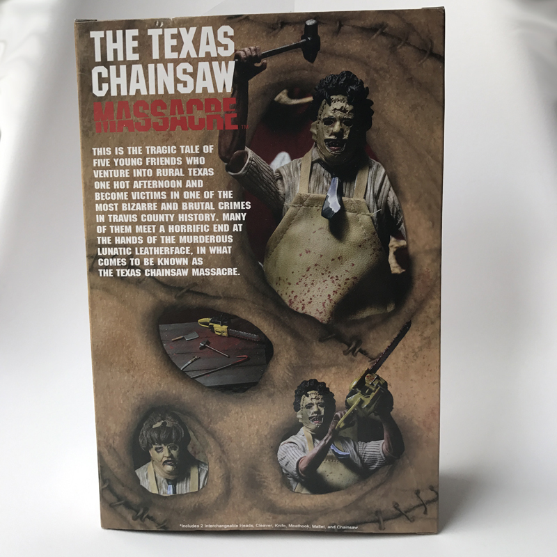 18cm NECA 40th Anniversary Ultimate Leatherface Classic Terror Movie The Texas Chainsaw Massacre Action Figure In 3D Boxed (6)