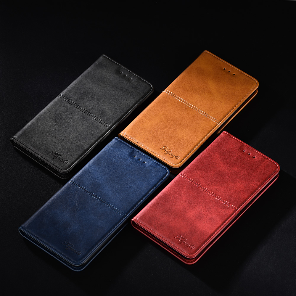 """Book Case for Huawei Honor 7C 5.7"""" Russian Version AUM-L41 Flip Leather Cover Case for Honor 7A Pro Y6 Prime 2018 Wallet Close"""