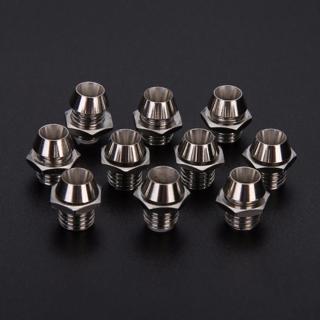 10pcs 3mm LED Lamp Holder Round Chrome LED Bezel Emitting Diode Metal Holder Luminous Tube Holder