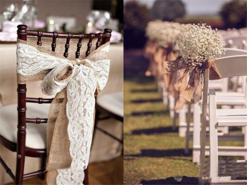 Encaje en un rollo de 15cm X 10m boda banda de silla Vintage lugar Decoración Rosa