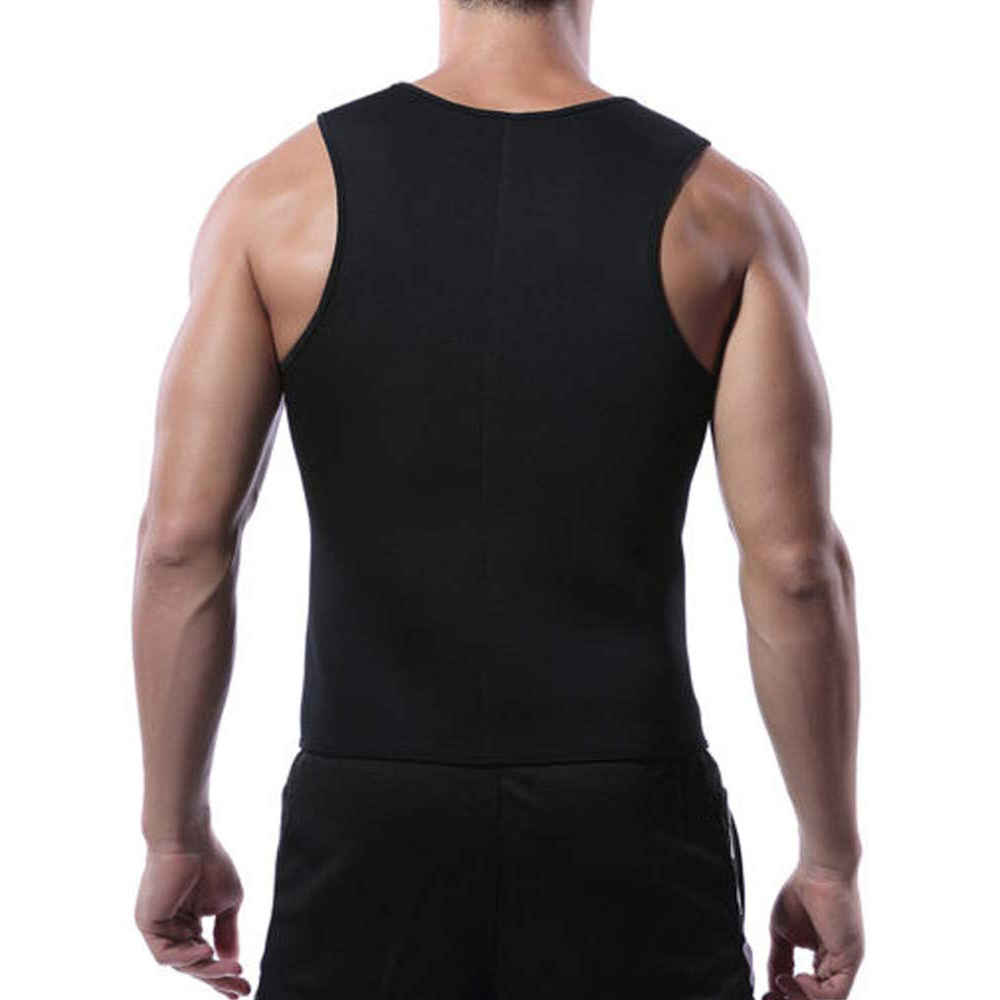 CXZD 2019 Men Waist Trainer Vest for Weightloss Hot Neoprene Corset Body Shaper Zipper Shapewear Slimming Belt Belly Men (4)