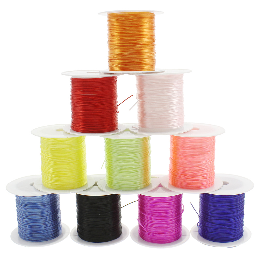 2020 25 Rolls 10m Rolls 0 6mm Stretchy Elastic Cord Crystal Wire Fishing Thread Rope String Wire For Jewelry Making Beading Bracelet From Dushijerry 21 32 Dhgate Com