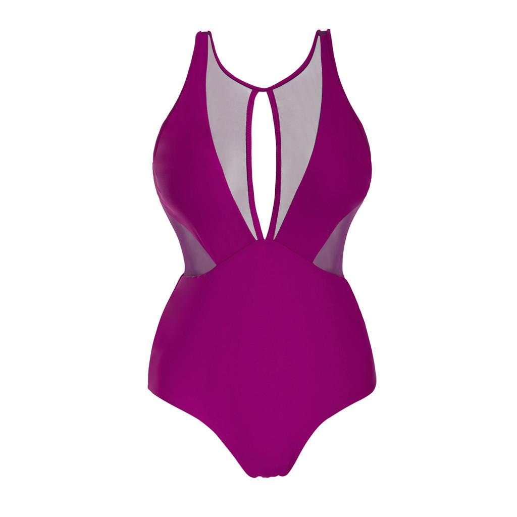 Womail Pak Voor Vrouwen Bikini Women Summer Sexy Sling Soild Mesh Swimwear Swimsuit Beachwear Siamese Bikini Swimwear Women 2019