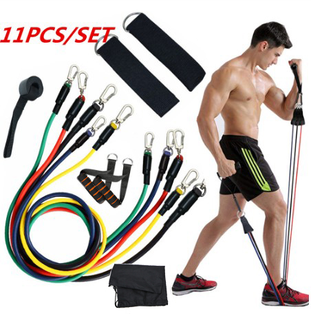 5pcs Bandes Résistance Fitness Sport élastique Exercice Caoutchouc Entrainement