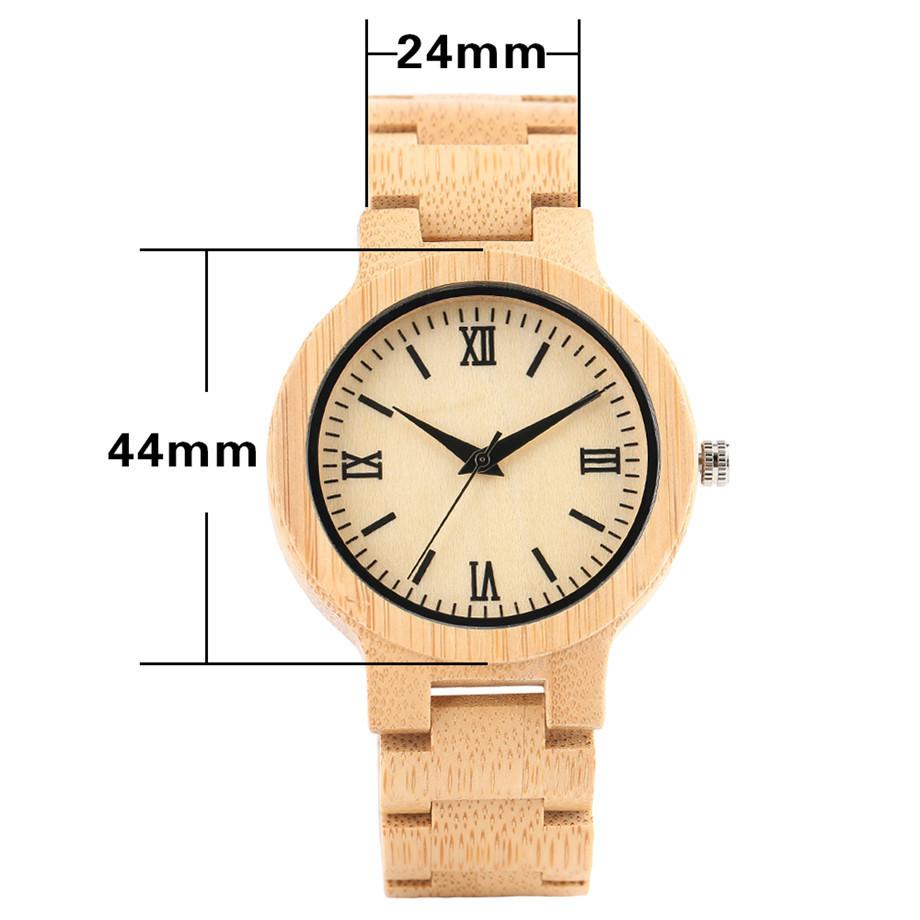 Bamboo zebra wood watch roman numerals dial ladies watch14