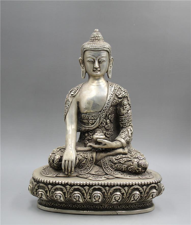 chinese folk Wood boxwood carving Sakyamuni Tathagata Buddha Buddhism Statue