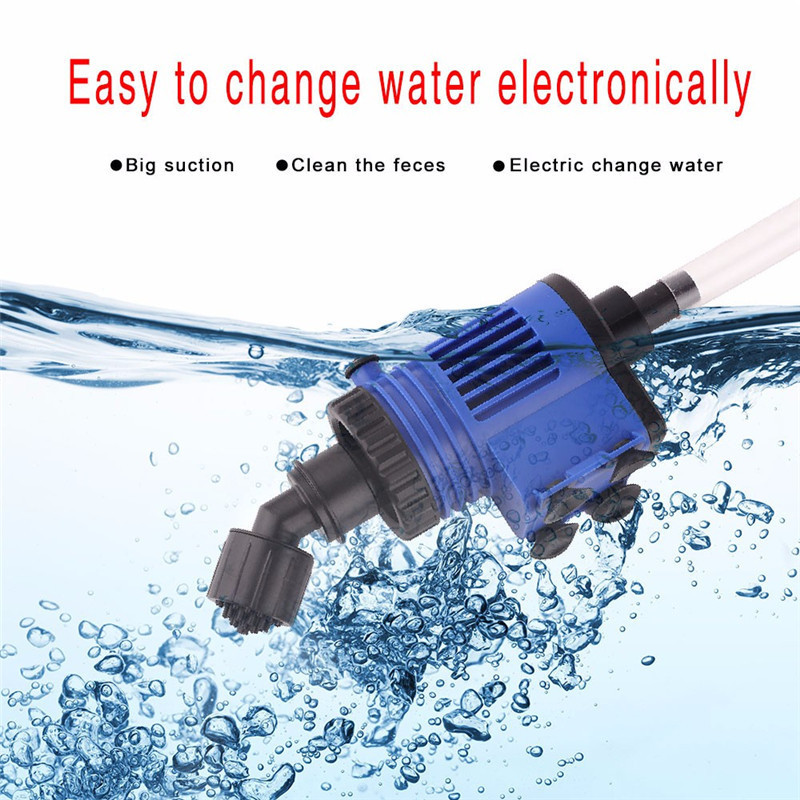 Automatic Aquarium Water Changer Clean Vacuum Water Change Gravel Pump Fish Feces Siphon Sand Washer Filter Fish Tank Cleaner12