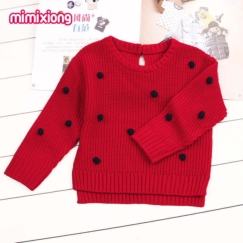 Pontos de Crochê Camisola Para Meninas Bebê Recém-nascido Meninos Pullovers de Malha Primavera Outerwear Crianças Crianças Malhas Jumper de Manga Longa Rosa