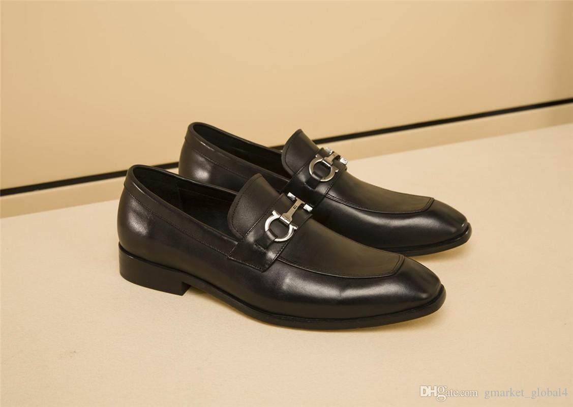 Negocios Zapatos Hombres de Plataforma tac/ón Grueso Costura Suela de Caucho Resistente a la abrasi/ón Antideslizante cord/ón de Zapatos