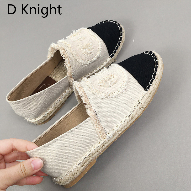 Women Espadrilles Straw Fisherman Shoes Flat Bottom Hemp Rope Breathable Female Loafers Spring Summer Casual Ladies Canvas Shoes (5)