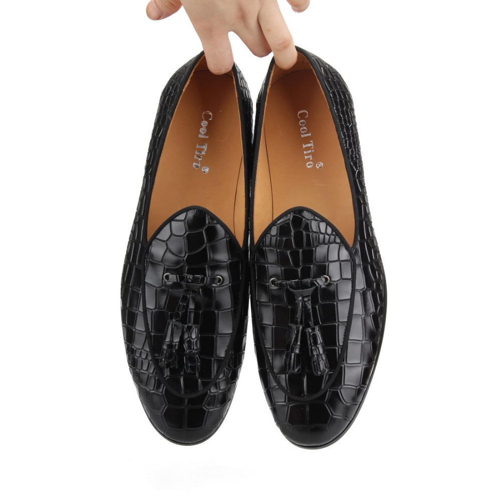 black CROCODILE LOAFERS WITH TASSELS (12)