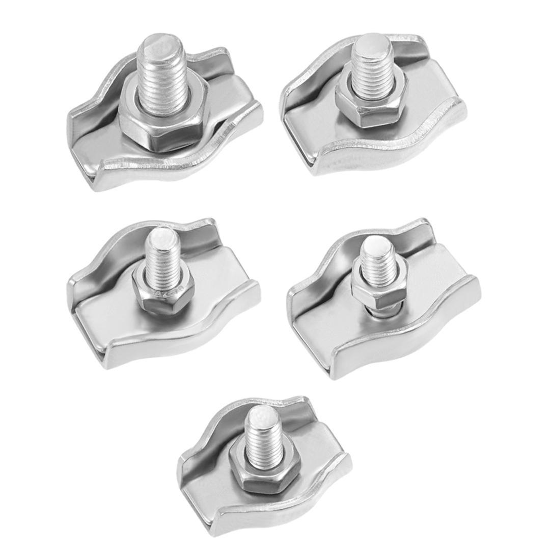 10 pcs M3 Double c/âble en acier inoxydable pinces /étrier poign/ées c/âble clips duplex c/âble en acier inoxydable