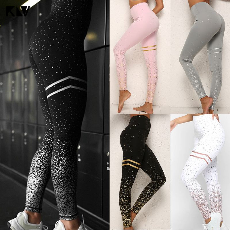 Leggings Butt Lift Pantaloni Yoga Palestra Anti-Cellulite Donne vita alta elastico arricciato
