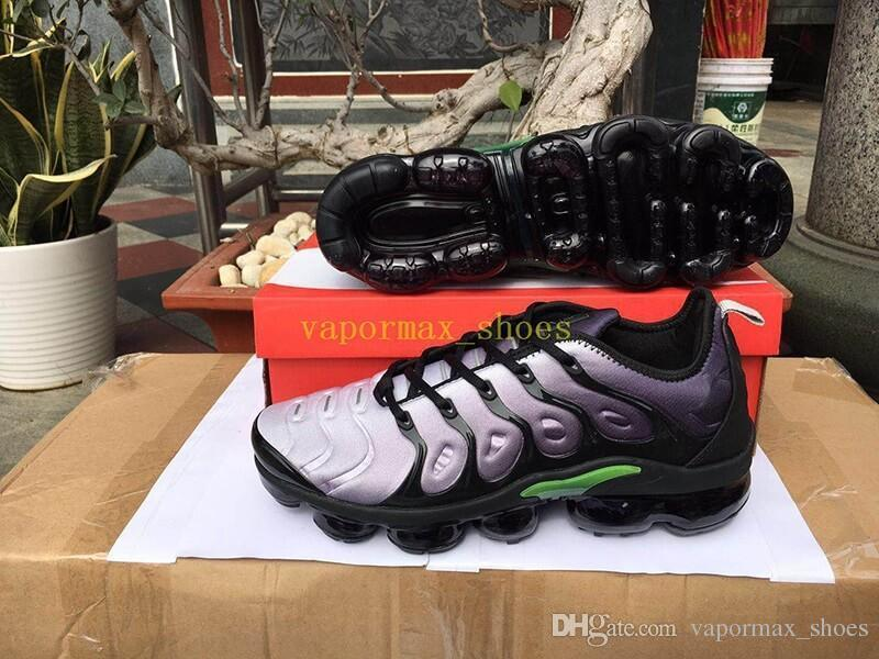 2019 TN Plus Running New Shoes Orange USA Eggplant Grape Volt Hyper Olive Retuned Trainers Sports Sneaker Man Woman Designer Athletic Shoe