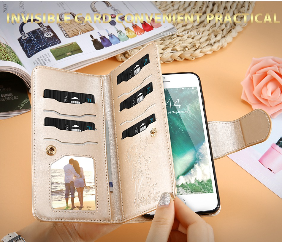 Leather Wallet Case For iPhone 7 6 6S Plus 5 5S SE Phone Cases (7)