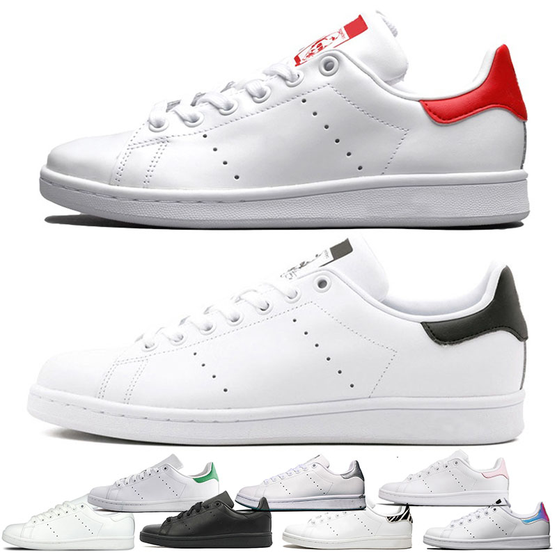Brand Casual Shoes Stan Smith White Red Triple Black Silver Superstars Casual Leather Top Quality Sports Platform Sneakers Size 36-44