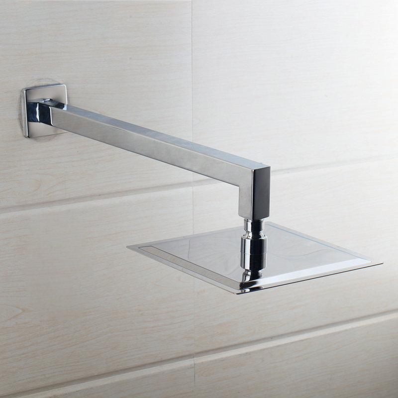 8 inç Ultra-ince Paslanmaz Çelik Duş Başlığı 200x200mm Banyo Duvara Monte Kare Yağış Duş Başlığı Püskürtme Dokunun Kol